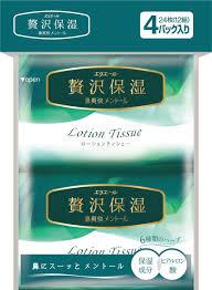 <b>Салфетки</b> бумажные <b>Elleair Lotion Tissue</b> Mentol, 4 пачки по 12 шт