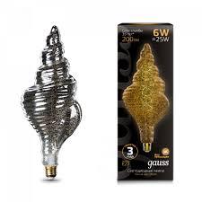 Купить <b>лампа gauss led vintage</b> filament flexible tl120 6w e27 120 ...