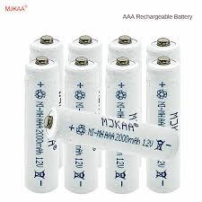tbuotzo 2 4 6pcs lot free shipping aaa rechargeable batteries 1800mah ni mh aaa battery