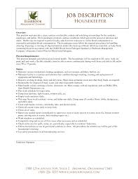 housekeeping resume objective job and resume template sample resume for housekeeping job