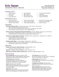 resume tips creative writing writer instructor resume