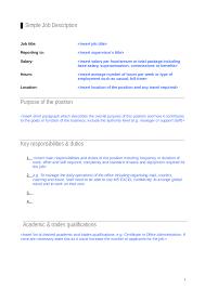 job description how to write a job description templates job description template 05