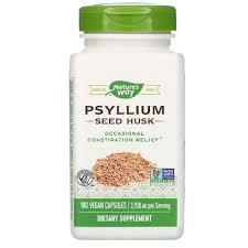 [Nature's Way] <b>Psyllium Seed Husk</b>, <b>3,150</b> mg, 180 Vegan Capsules ...