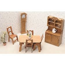 unfinished wood dining room dollhouse furniture kit 14099778 cheap wooden dollhouse furniture