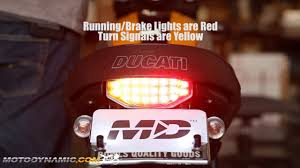 2015-2016 Ducati Scrambler Sequential <b>Integrated</b> LED Tail Light ...