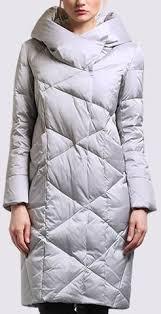 Asymmetric-Collar <b>Hooded</b> Puffer Coat in Grey - DESIGNER ...
