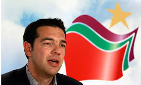 Standing on the podium in his trademark open-neck shirt and dark suit, Alexis Tsipras clenched his fist and bellowed at the crowd. - Alexis-Tsipras-008