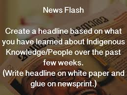 indigenous knowledge by holly zaher news flash