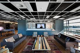 creative agency works and collaborates waiting area lounge advertising agency office advertising agency