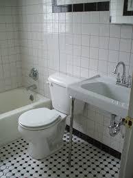 bathroom white tiles: black white tile bathroom home depot