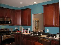 painted blue kitchen cabinets house: blue kitchen with white cabinets best wall color design plan