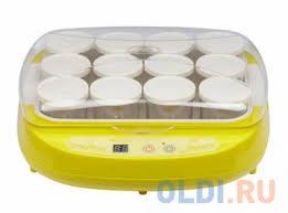 <b>Йогуртница BRAND 4002</b> (цифровое управл. 12*200мл) желтая ...