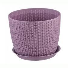 <b>Кашпо</b> IDEA М 3119 <b>ВЯЗАНИЕ D135мм</b> 1,<b>1л</b> Пурпурный: купить ...