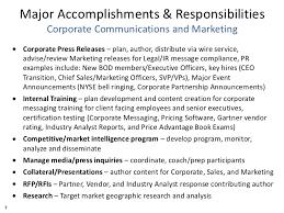 matt balfour major accomplishments responsibilities and ir program ex   7 major accomplishments