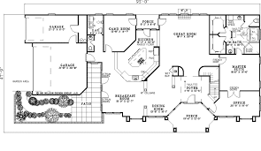 Scenic Ridge Luxury Home Plan S    House Plans and MoreSouthwestern House Plan First Floor   S    House Plans and More