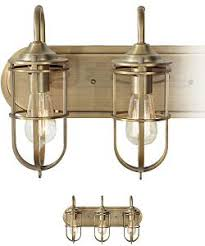 feiss urban renewal 3 light vanity dark antique brass vs36003dab brass bathroom lighting fixtures
