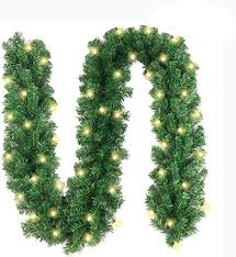 10Ft Christmas Garland with 40 LED Lights - Battery ... - Amazon.com