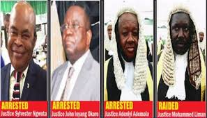 Image result for judges raded by dss involved buhari amaechi