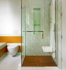 bathroom niches: shower niches bathroom contemporary with bamboo paneling bathroom tile curbless shower floating