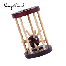MagiDeal 1Pc <b>Wooden Intelligence</b> Kong Ming <b>Lock Take</b> out ...