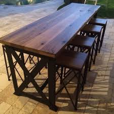 table bar height chairs diy: bar height table base commercial high with metal wood patio set