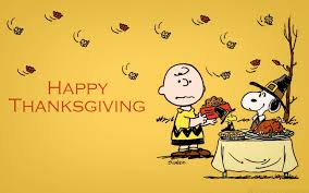 Happy Thanksgiving Peanuts Cartoon Banner