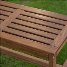 backless patio bench