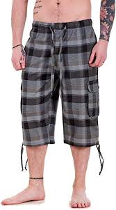 onpointlook <b>Mens Big Size</b> Shorts 3/4 Combat Cargo Casual Pants ...