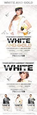 60 psd poster and flyer templates updated white and gold party flyer template