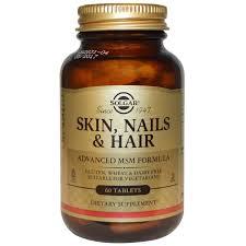 Витамины для <b>волос</b>, <b>кожи</b> и ногтей, Skin, Nails & <b>Hair</b>, <b>Solgar</b>, 60 ...