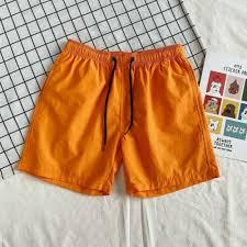 <b>Men Summer Mens</b> Casual Shorts Pants Loose Plain Beach <b>Elastic</b> ...