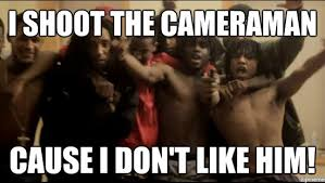 Chief Keef Friends | I shoot the cameraman Cause I don't like him ... via Relatably.com
