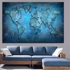 Abstract 3D World Map <b>Canvas Painting</b> Modern Globe Map <b>HD</b> ...