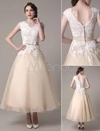 Square Neck <b>Applique Satin</b> Short Wedding Dress with <b>Beading</b> ...