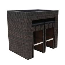 Amalfi Promenade Wicker <b>Bar Set 5 Piece</b> | Briscoes NZ