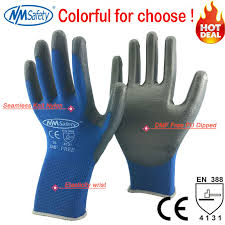<b>NMSAFETY</b> 12 pairs <b>Working Protective Gloves</b> Men Flexible Nylon ...