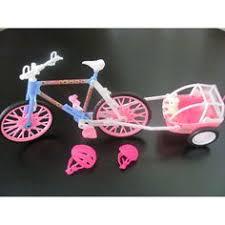 amazoncom barbie size dollhouse furniture bike with trailer toys games amazoncom barbie size dollhouse