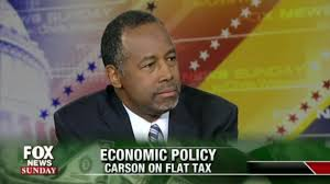 Image result for ben carson flat tax