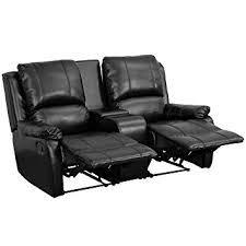 flash furniture allure series 2 seat reclining pillow back theater seating unit with cup holders allure furniture