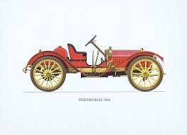 <b>Гравюра Ariel-P Ретро автомобиль</b> Олдсмобиль (Oldsmobil) 1910 ...