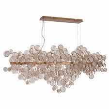 <b>Подвесной светильник Crystal</b> Lux Deseo SP15 L1400 Gold ...