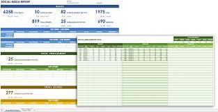 12 social media templates smartsheet social media report template