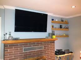 For Floating Shelves In Living Room Floating Shelves Design Fireplace Interior Amazing Brick Wall Exposed With Large Lcd And Brick Walls With Fireplace Home Decor Beach Home Decor Office