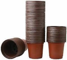 <b>100 Pcs Plastic Nursery Pot</b> Seedlings Flower <b>Plant Container</b> ...