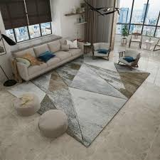 <b>Abstract</b> Modern <b>Art</b> Carpet For Living Room <b>Nordic Style</b> Large ...