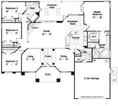 images about Dream home       on Pinterest   Floor plans    One story house plan  I would change the garage entry  I don    t