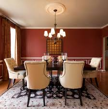 Traditional Dining Room Chairs Chair Rail Molding Dining Room Traditional With Beige Dining Chair