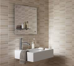 ideas bathroom tile color cream neutral: amazing lowes bathroom tile design in neutral beige color scheme and floating white wash stand