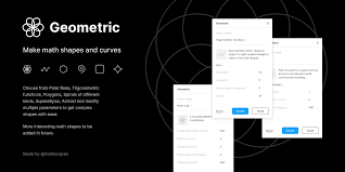 Geometric | Make math shapes and curves. Choose from ... - Figma