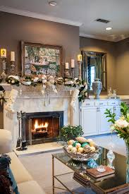 christmas decorating example of a classic living room design in dallas with brown walls urban decor accessoriesmesmerizing pretty bedroom ideas